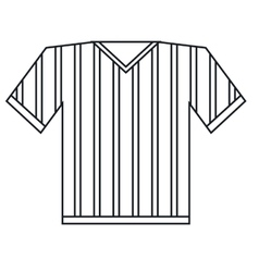jersey referee american football outline vector image