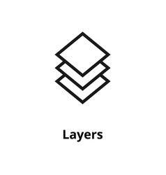 Layers line icon vector