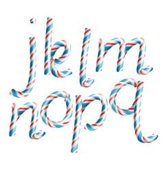 letters j k l m n o p q 3d vector image