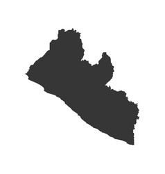Liberia map silhouette vector