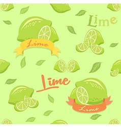 Lime Seamless Pattern vector image