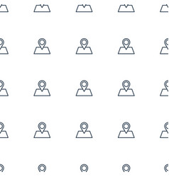 location pin icon pattern seamless white vector image