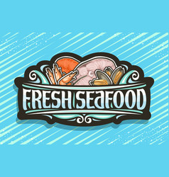 Logo for fresh seafood vector