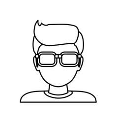 Man faceless glasses avatar vector