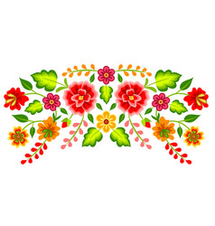 mexican floral pattern vector image