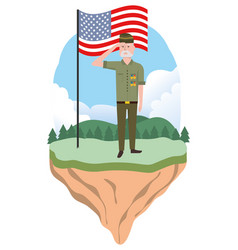 Military force man design vector