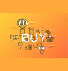 Modern concept of word buy vector