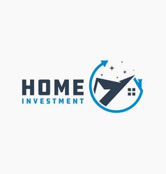 modern residential investment logo vector image