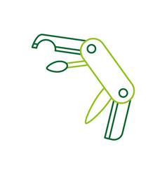 multipurpose of knife camping tool vector image