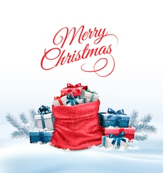 Office Background with Santa Hat Tablet and Office vector