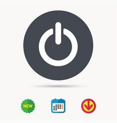 On off power icon energy switch sign vector