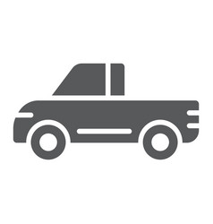 pickup glyph icon van and auto car sign vector image