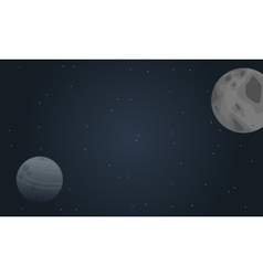 Planet outer space landscape vector