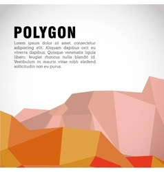Polygonal design Geometric shape design vector image