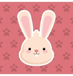 Rabbit with pattern background image vector