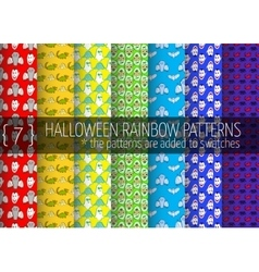 Rainbow seamless patterns vector