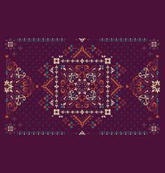 rectangular bandana print design for rug carpet vector image