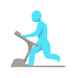 running track male figure on training apparatus vector image