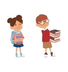 School kid primary education character vector image