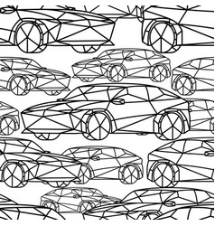 seamless pattern with abstract cars vector image