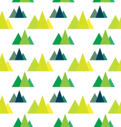 Seamless pattern with geometric forest mountains vector image