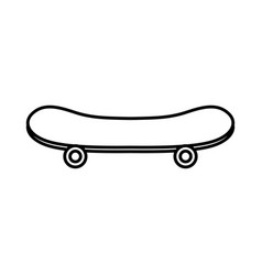 skateboard sport equipment isolated icon vector image