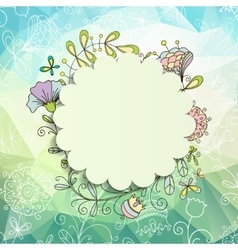 Spring or summer background vector image
