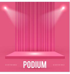 square podium scene pedestal and 3d platform vector image