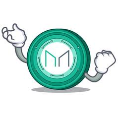 Successful maker coin character cartoon vector