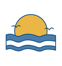 sunset icon image vector image