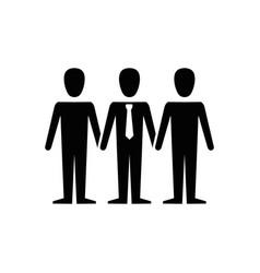 Teamwork emblem icon vector
