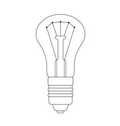 the contour of lightbulb vector image