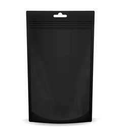 the layout of the bag doy pack black vector image