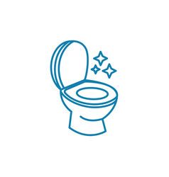 toilet hygiene linear icon concept toilet hygiene vector image