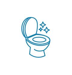 toilet hygiene linear icon concept toilet hygiene vector image