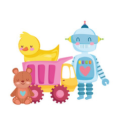 toys object for small kids to play cartoon robot vector image