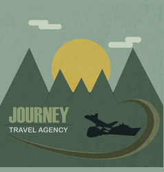 Travel agency journey vector