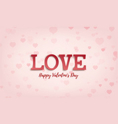valentines day greeting card template abstract vector image