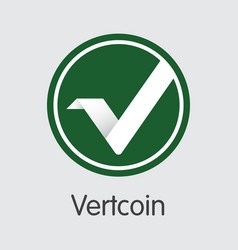 Vertcoin virtual currency vtc coin symbol vector