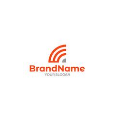 W wifi logo design vector