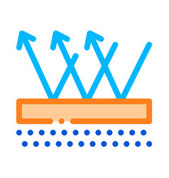 Waterpromaterial floor thin line icon vector