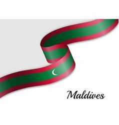 Waving ribbon flag vector