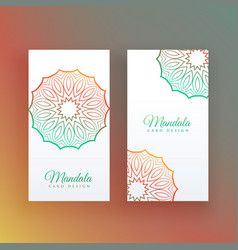 white card with colorful mandala decoration vector image