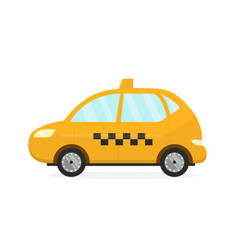 Yellow taxi cab auto flat modern vector