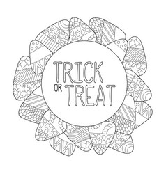 Candy corn coloring page trick or treat vector