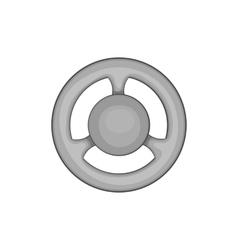 Car rudder icon black monochrome style vector