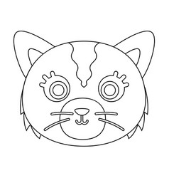 cat muzzle icon in outline style isolated on white vector image vector image