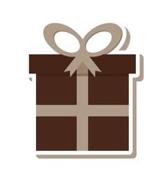 gift box present isolated icon vector image