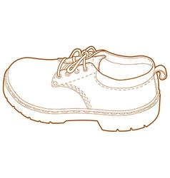 Mans Left Shoe Line Art vector image