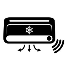 air conditioning icon simple black style vector image vector image